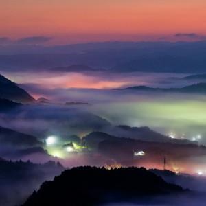 鳥見山の雲海