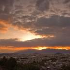 柿山展望台からの夕日